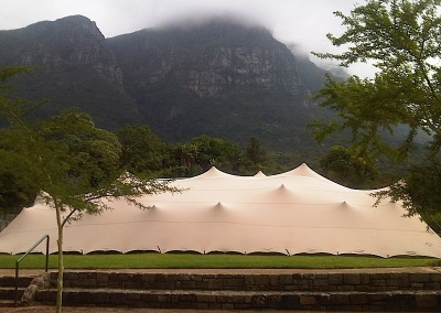 kilobush-stretch-tents-Kirstenbosch-Gardens-with-Waterproof-Stretch Bedouin tent