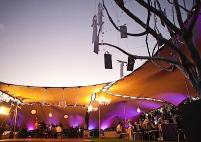 kilobush-stretch-tents-Linked-tents-with-chandeliers-lighting